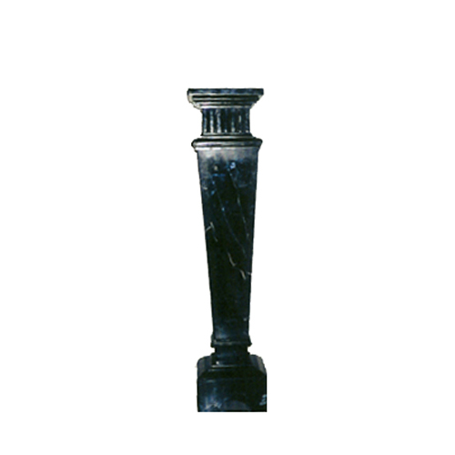 SRBKMS006 Marble Trapezoid Pedestal (Anthracite Black) by Metropolitan Galleries Inc