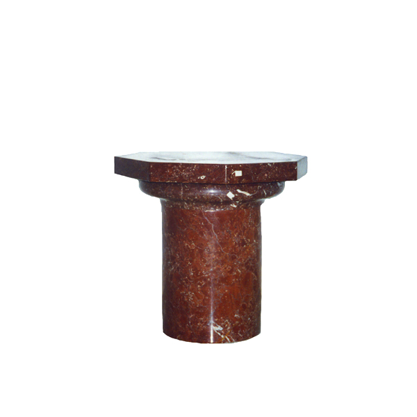 SRBKMS007 Marble Octagon Stump Pedestal (Bordeaux Red) by Metropolitan Galleries Inc