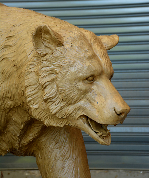 Custom Sculpture Mold of Blazer the Walking Black Bear by Metropolitan Galleries Inc