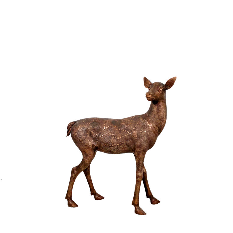 SRB10119-C Bronze Baby Fawn Sculpture exclusive by Metropolitan Galleries Inc 1