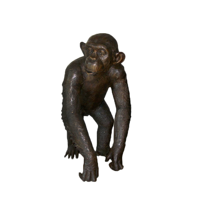SRB705458 Bronze Walking Monkey Sculpture by Metropolitan Galleries Inc