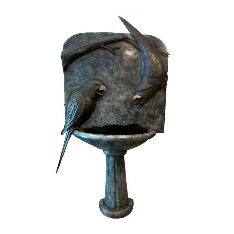 SRB707397 Bronze Parrots Wall Fountain by Metropolitan Galleries Inc