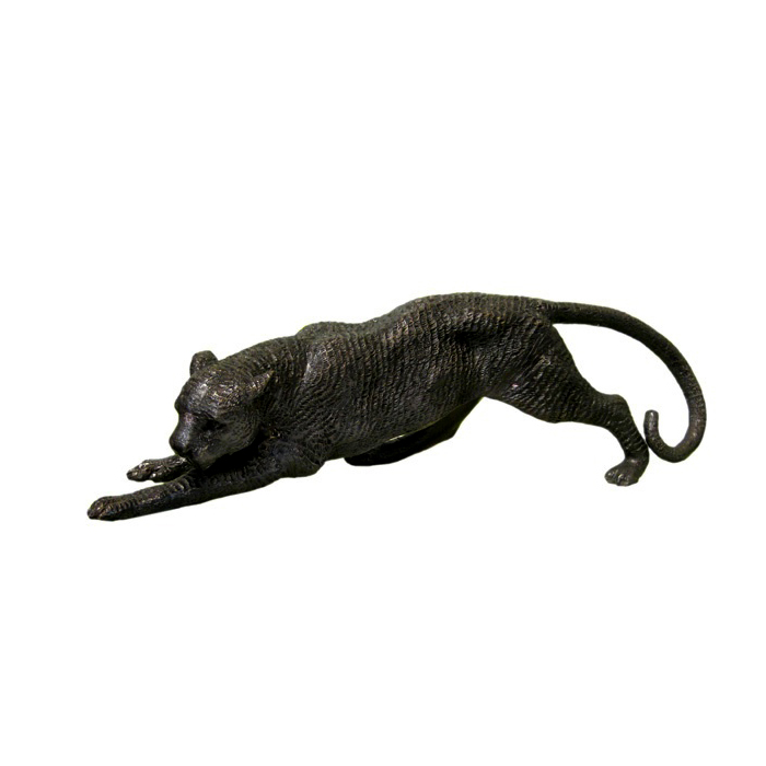 SRB990346 Bronze Stretching Panther Sculpture by Metropolitan Galleries Inc