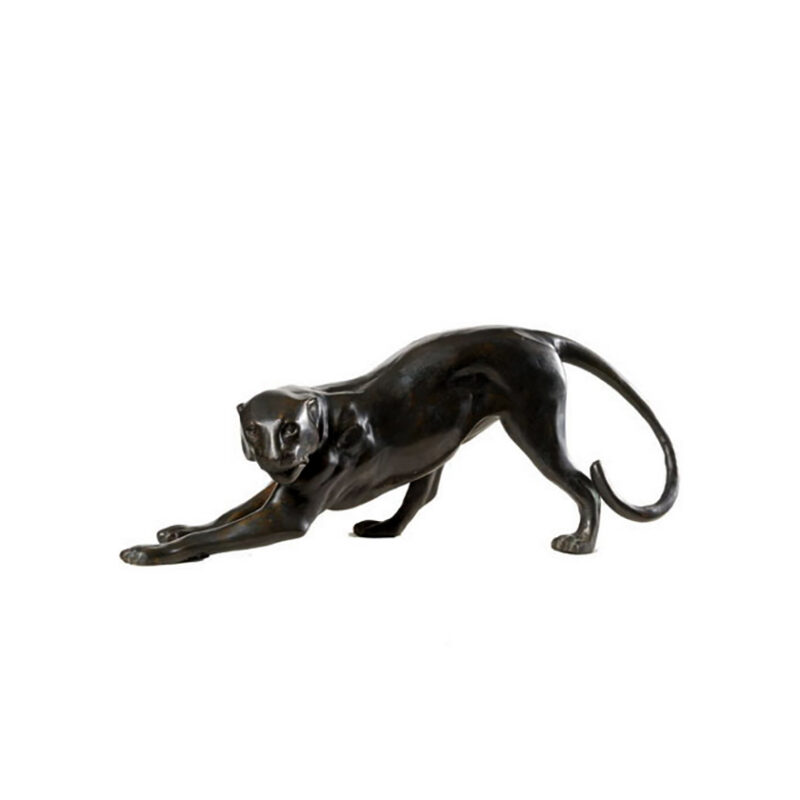SRB990347 Bronze Stretching Panther Sculpture by Metropolitan Galleries Inc