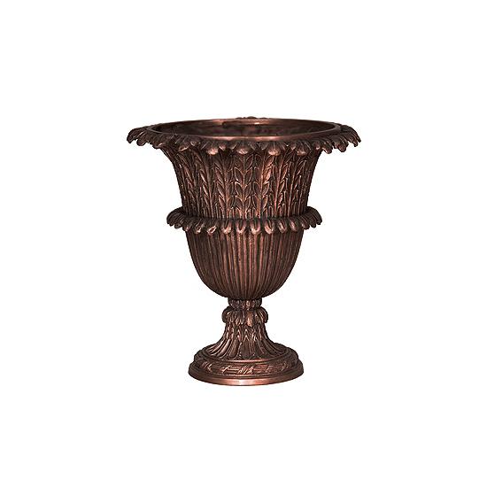 SRB056380 Bronze Leaf Pattern Planter Urn by Metropolitan Galleries Inc