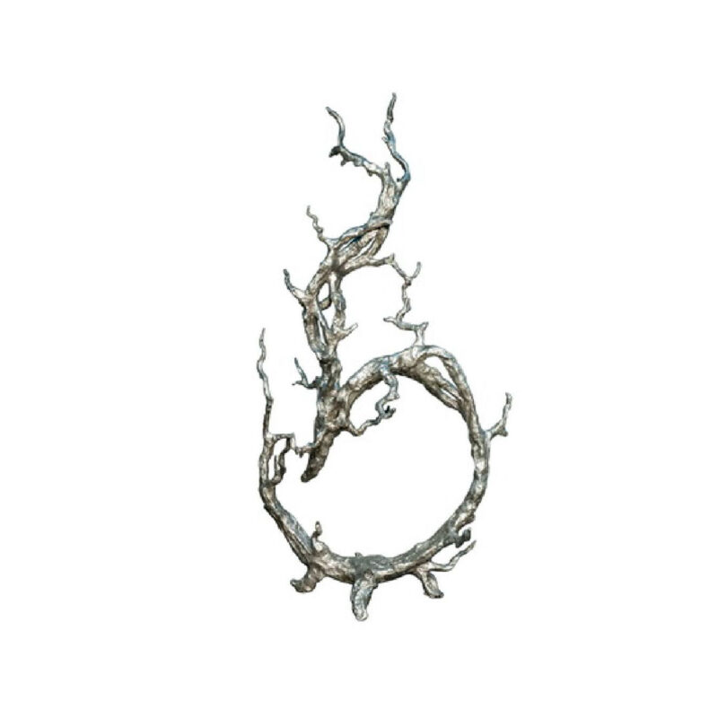 SRB022084 Bronze Elderwood Vine Sculpture by Metropolitan Galleries Inc Silver Leaf Patina