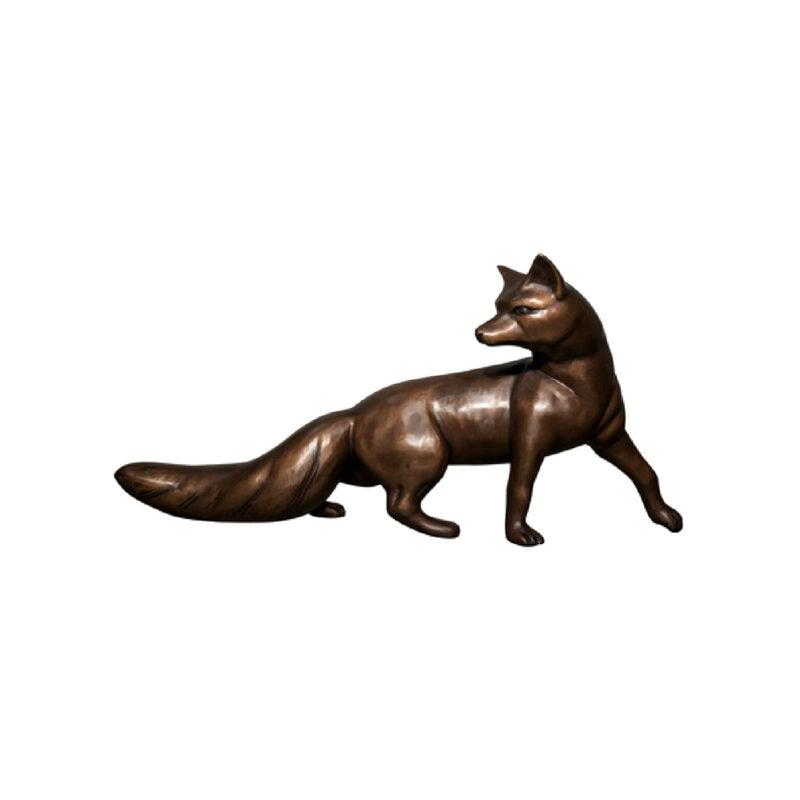SRB047202 Bronze Fox Sculpture by Metropolitan Galleries Inc