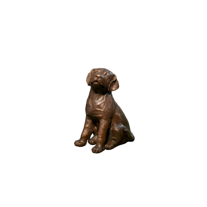 SRB047318 Bronze Lab Puppy Dog Sculpture by Metropolitan Galleries Inc