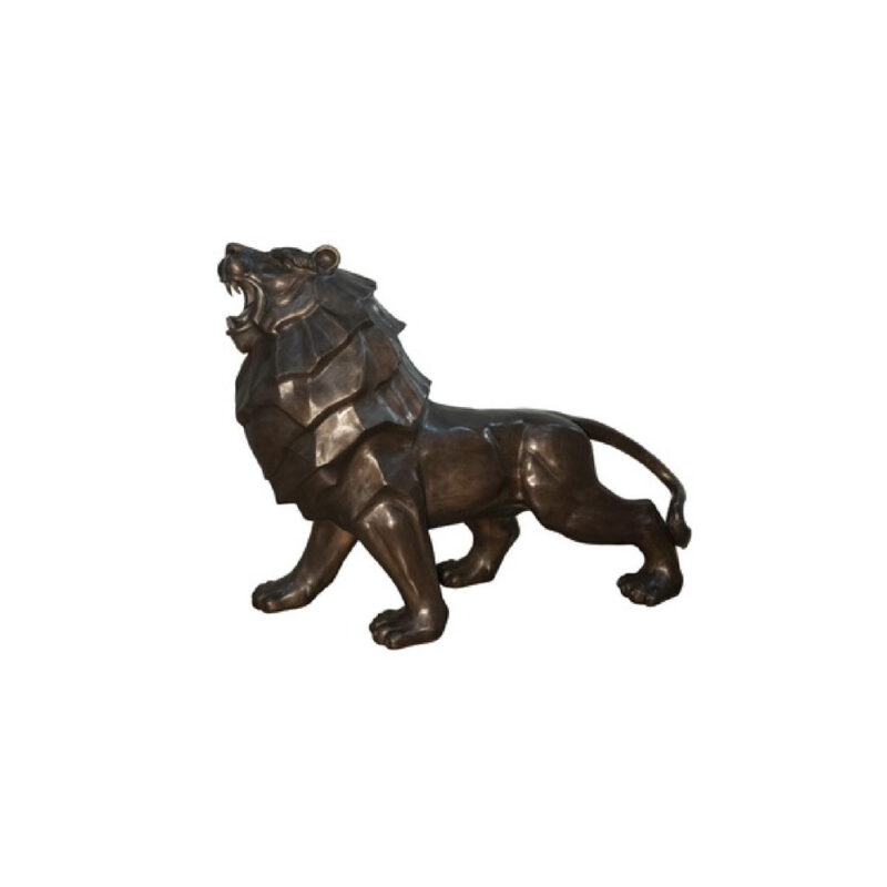 SRB047322 Bronze Contemporary Lion Sculpture by Metropolitan Galleries Inc