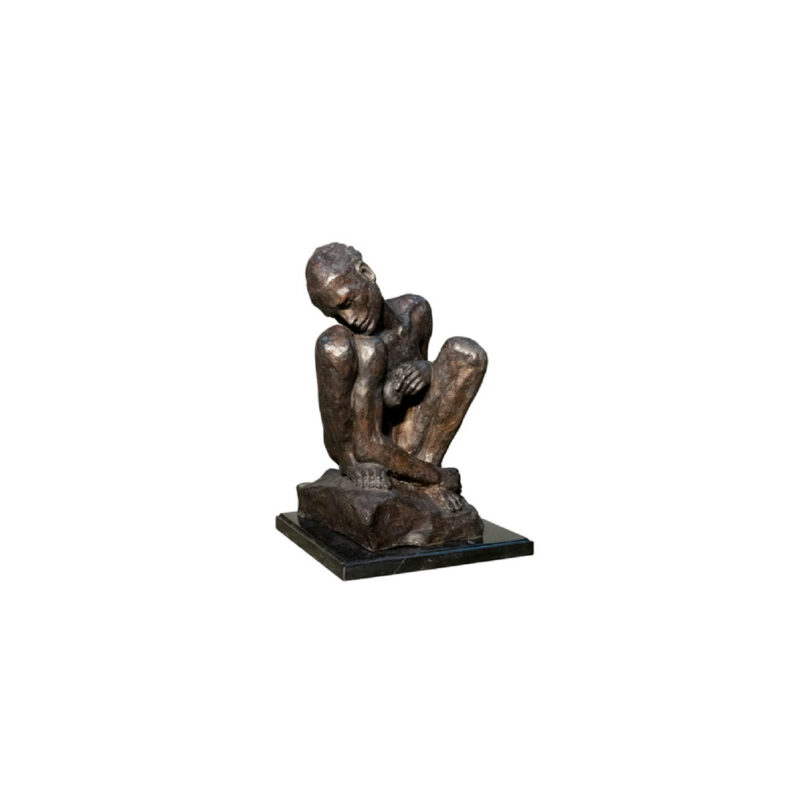 SRB055952 Bronze Contemporary Man Sculpture on Marble Base by Metropolitan Galleries Inc
