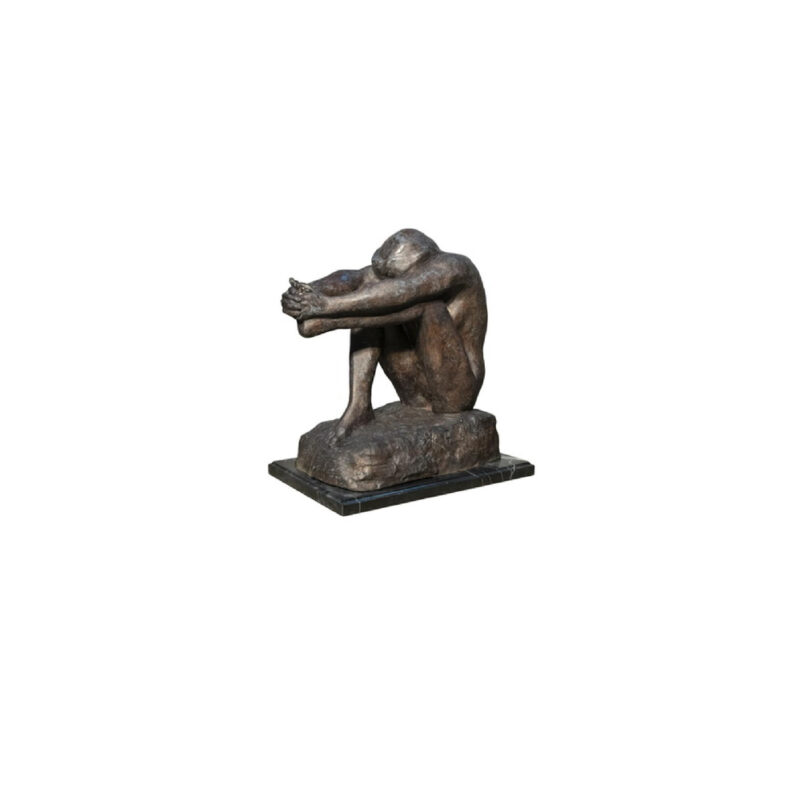 SRB055954 Bronze Contemporary Man Sculpture by Metropolitan Galleries Inc