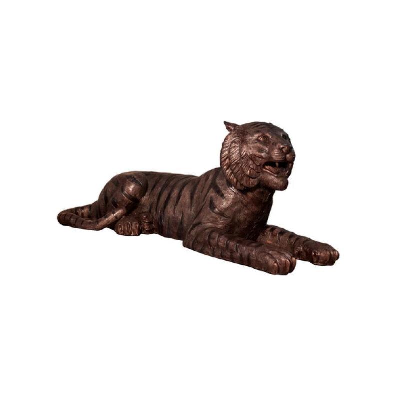 SRB056838 Bronze Laying Tiger Sculpture by Metropolitan Galleries Inc