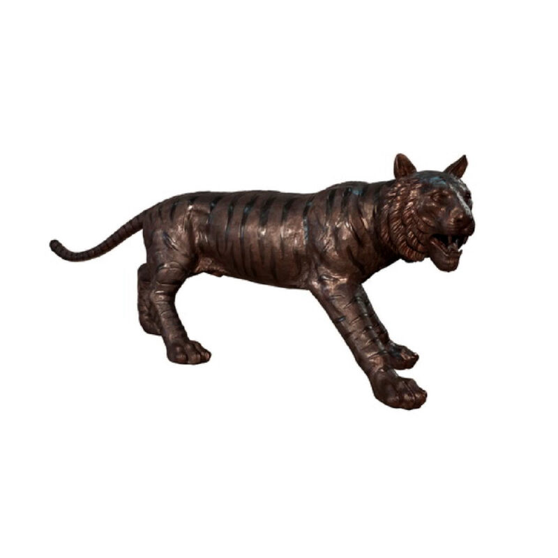 SRB056840 Bronze Tiger Sculpture by Metropolitan Galleries Inc