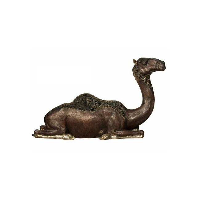 SRB028982 Bronze Lying Camel Sculpture by Metropolitan Galleries Inc