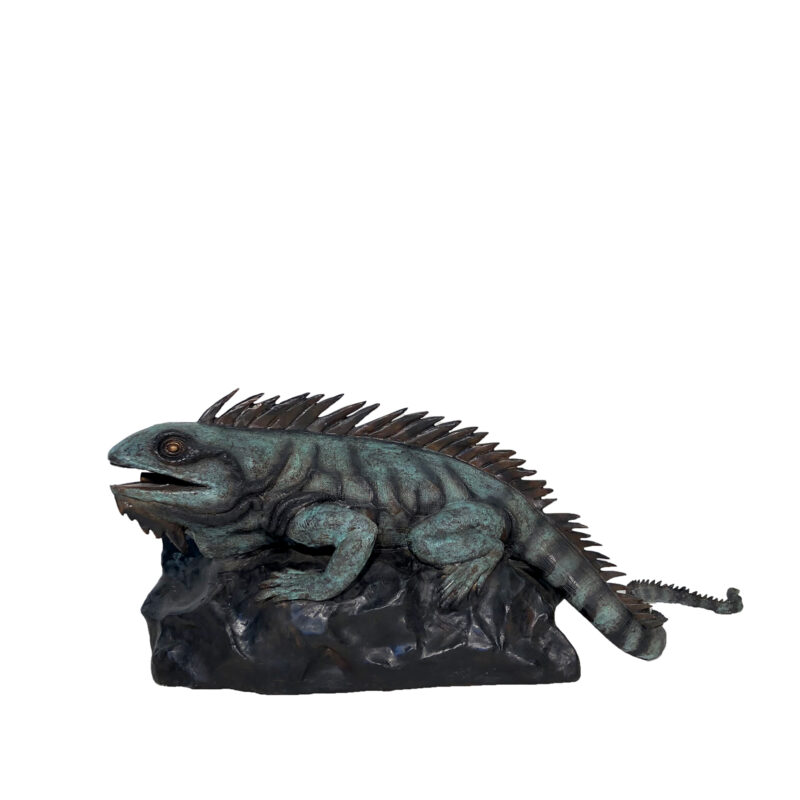 SRB705542 Bronze Iguana Fountain Sculpture by Metropolitan Galleries Inc