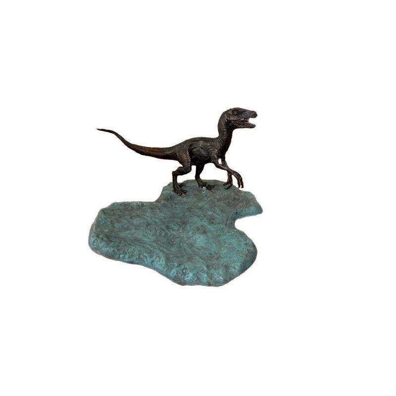 SRB701053 Bronze Velociraptor Dinosaur Sculpture by Metropolitan Galleries Inc