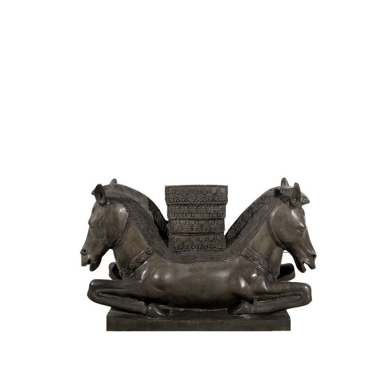 SRB991884 Bronze Horse Head Table Base Sculpture by Metropolitan Galleries Inc