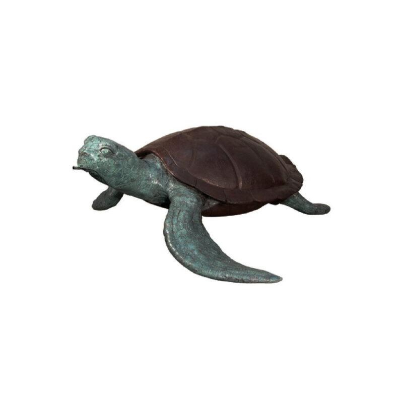 SRB075030 Bronze Sea Turtle Fountain Sculpture by Metropolitan Galleries Inc