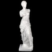 Venus De Milo Sculpture in Carved White Marble from Metropolitan Galleries Inc