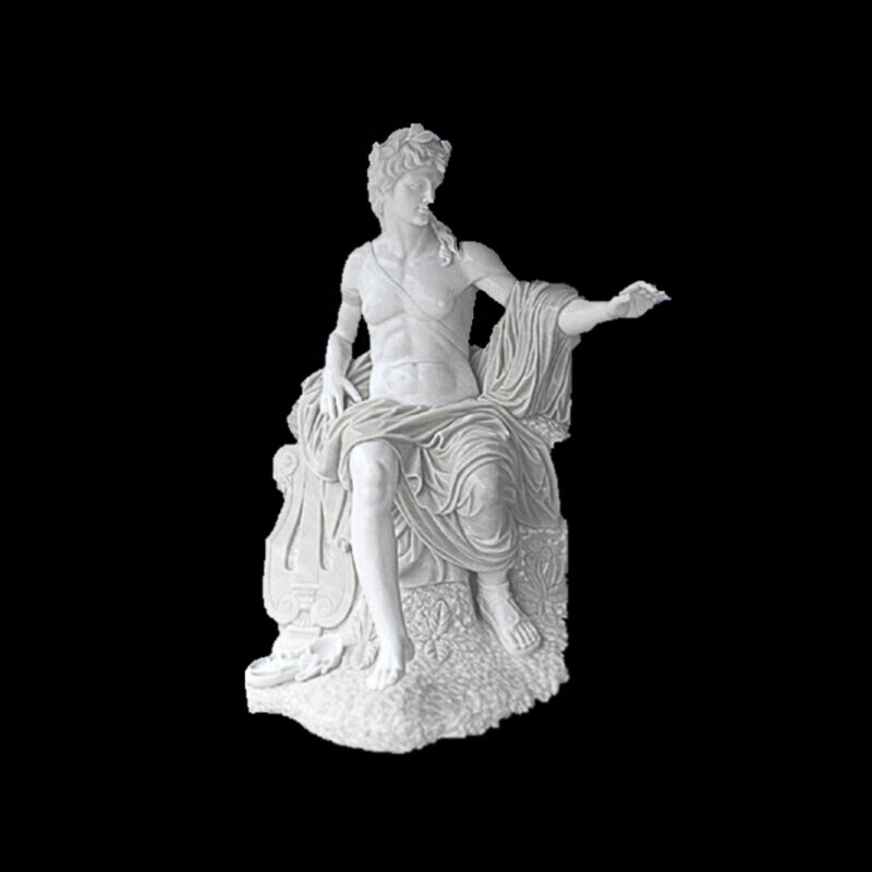 JBS181-A Marble Apollo Sculpture by Metropolitan Galleries Inc