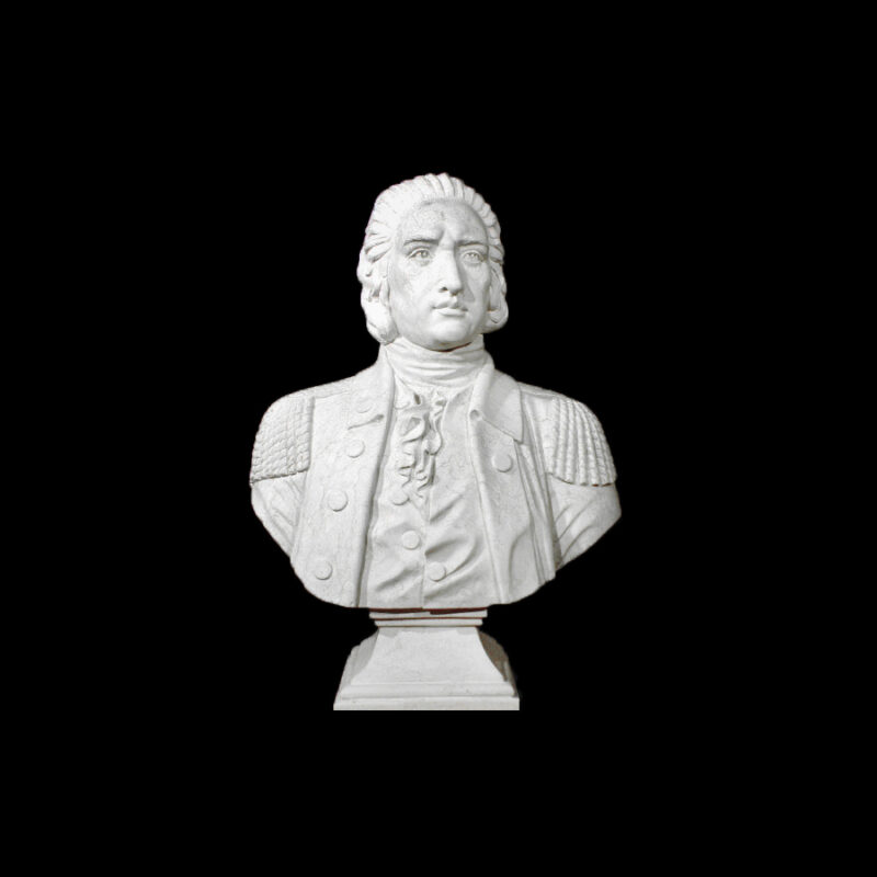 JBS207 Marble Bust of Revolutionary Officer Sculpture by Metropolitan Galleries Inc