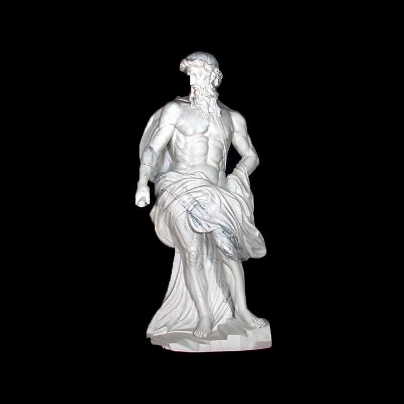 JBS211 Marble Zeus Sculpture by Metropolitan Galleries Inc
