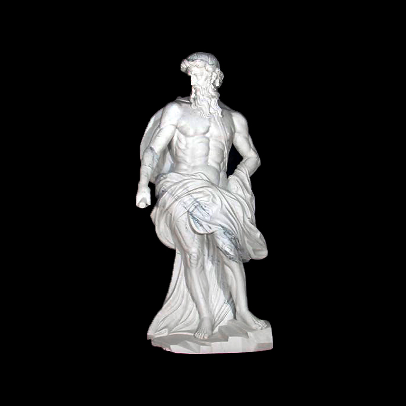 JBS211 Marble Zeus Sculpture by Metropolitan Galleries Inc