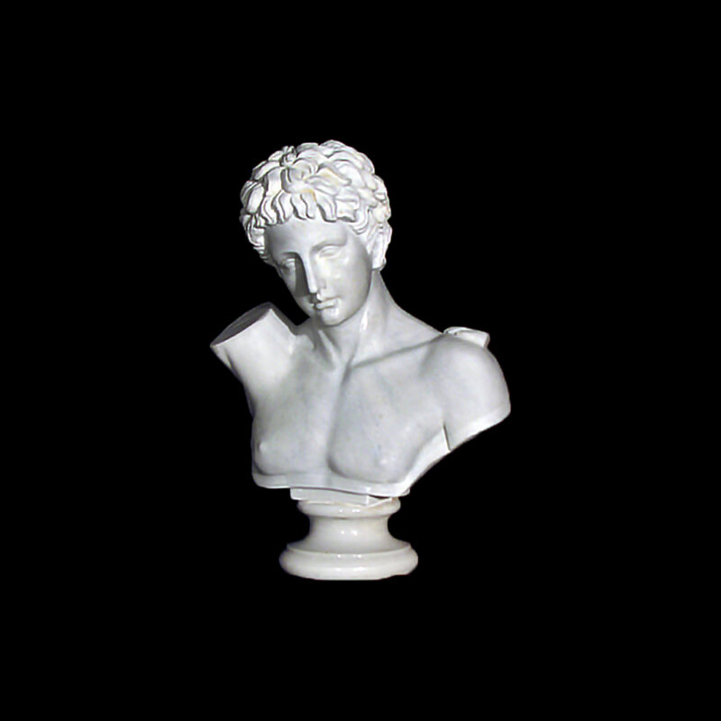 JBS212 Marble Bust of Roman Male Sculpture by Metropolitan Galleries Inc