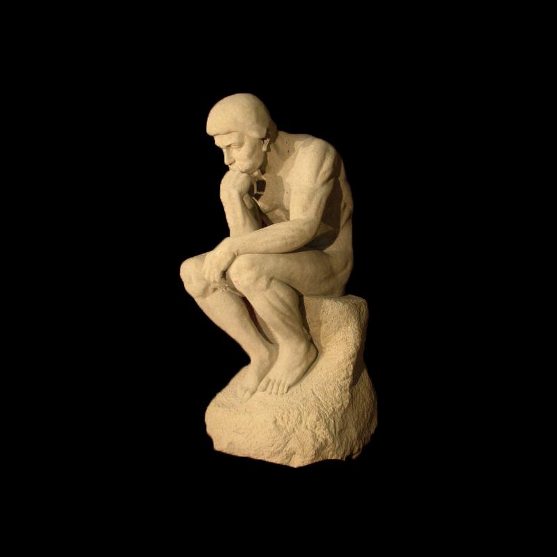 JBS218 Marble Thinker Sculpture by Metropolitan Galleries Inc