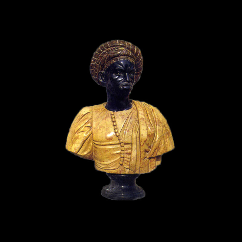 JBS220 Marble African Bust Sculpture by Metropolitan Galleries Inc