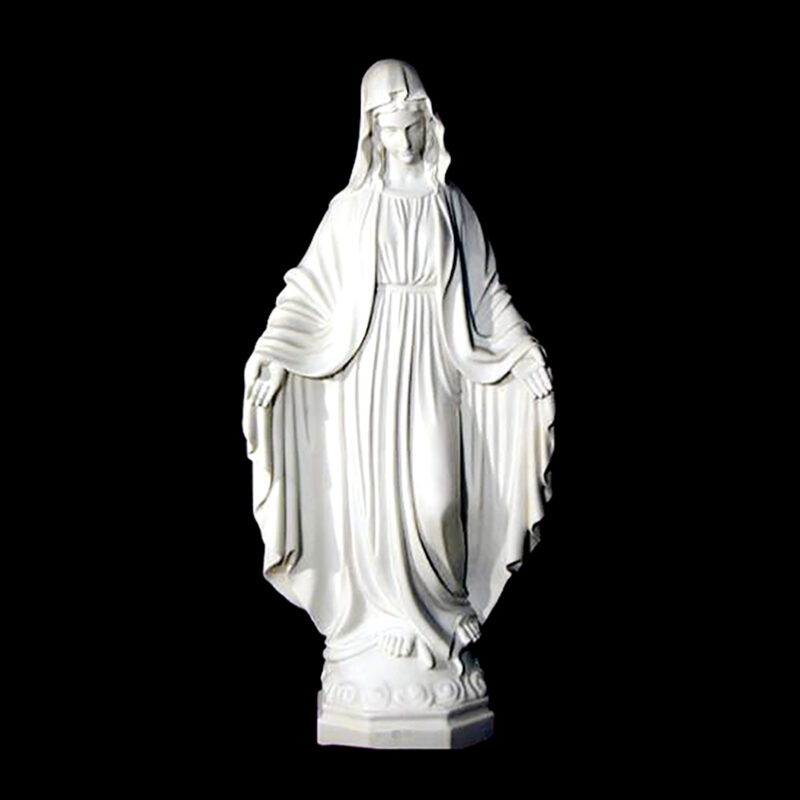 JBS328-A Marble Madonna Sculpture (Large) by Metropolitan Galleries Inc