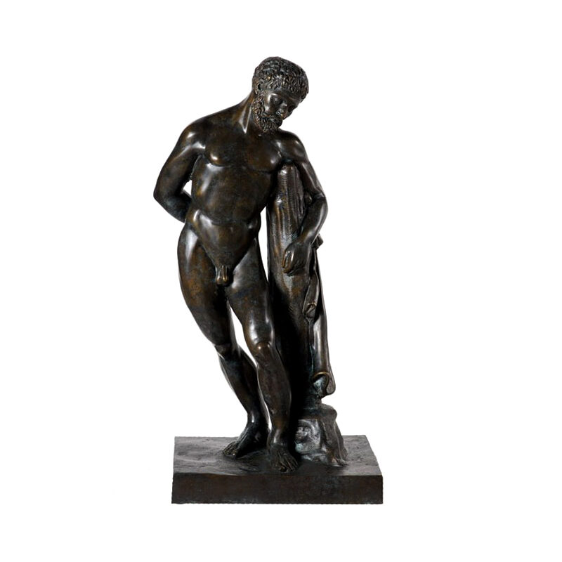 SRB54212 Bronze Nude Greco Man Sculpture by Metropolitan Galleries Inc