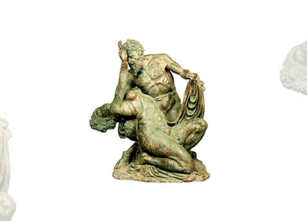 The Sculpture of Satyr & Bacchante