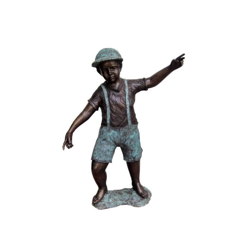 SRB704967 Bronze Standing Boy Sculpture by Metropolitan Galleries Inc