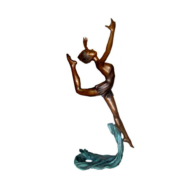 SRB706242 Bronze Ballerina Dancing Sculpture by Metropolitan Galleries Inc
