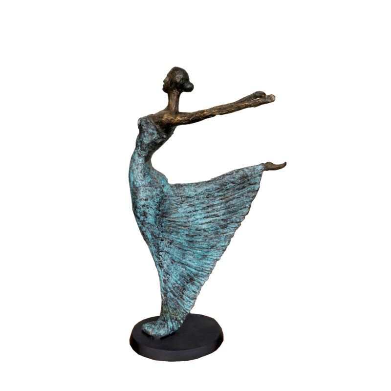 SRB707639 Bronze Contemporary Lady Dancer Sculpture by Metropolitan Galleries Inc