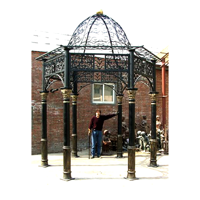 INZ200 Wrought Iron Gazebo with Dome Outdoor Structure by Metropolitan Galleries Inc
