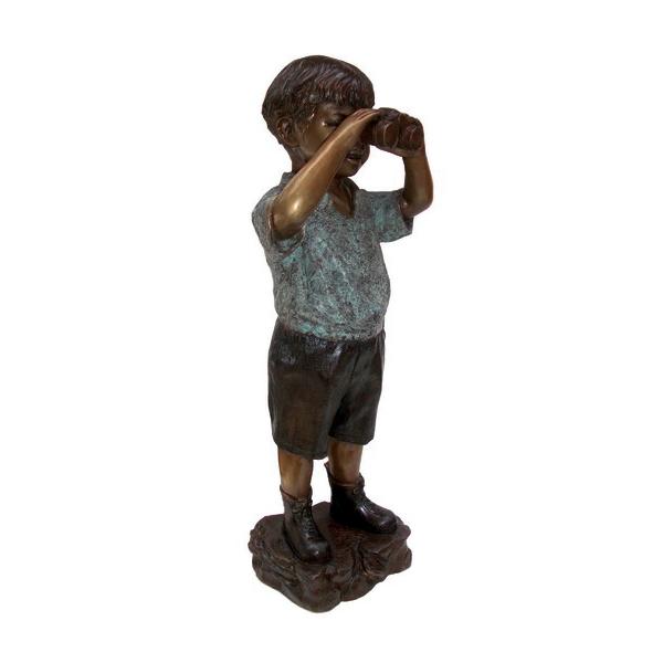 SRB704467 Bronze Boy with Binoculars Sculpture by Metropolitan Galleries Inc