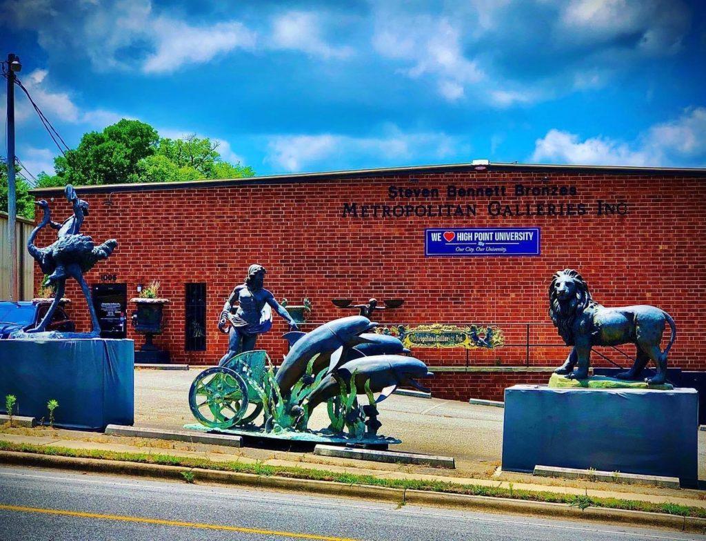 Metropolitan Galleries Headquarters in High Point North Carolina Bronze Sculpture Bronze Fountains Decorative Accessories