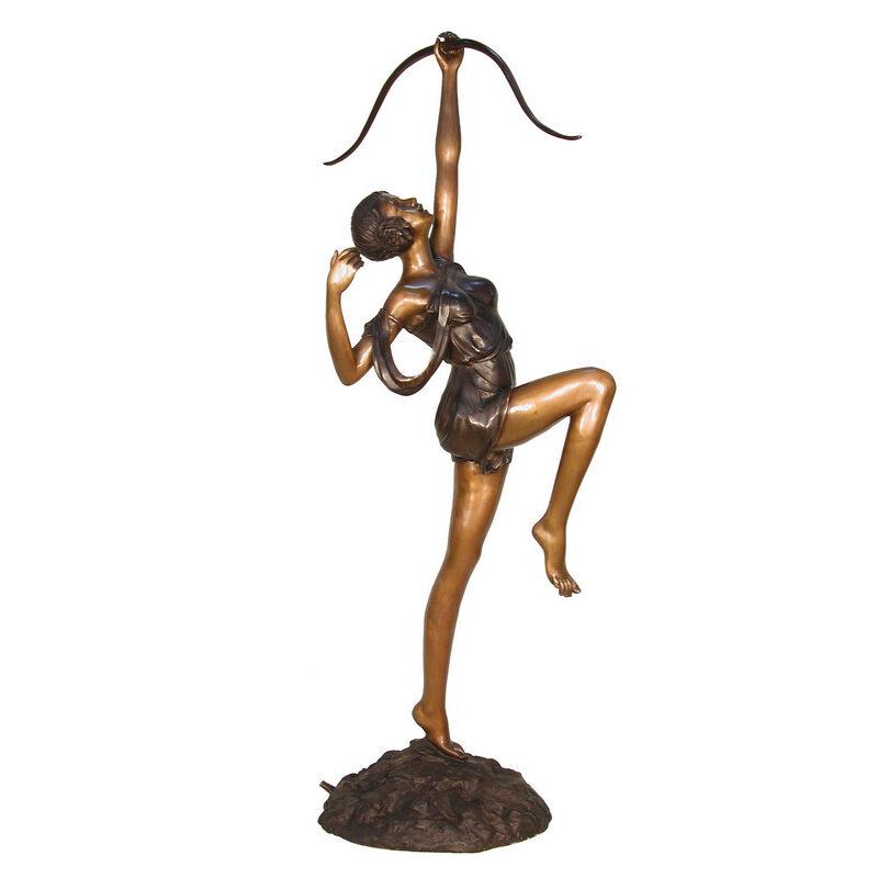 SRB028510 Bronze Lady Archer Fountain Sculpture by Metropolitan Galleries Inc