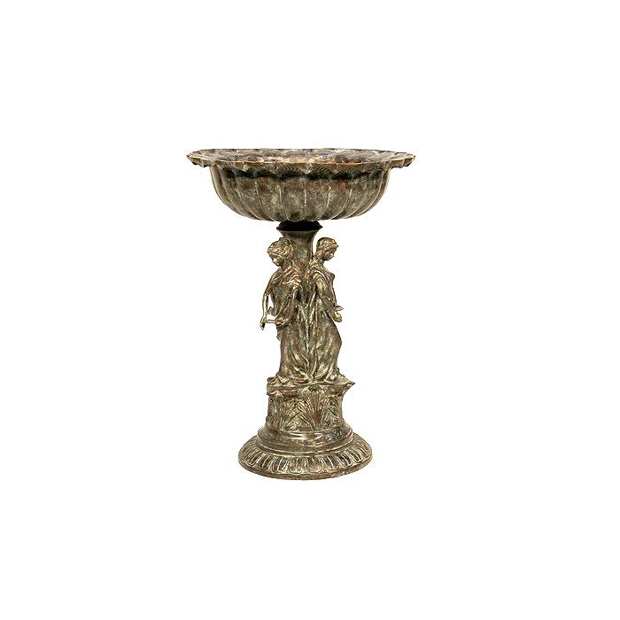 SRB056115 Bronze Ladies Planter Urn Sculpture by Metropolitan Galleries Inc