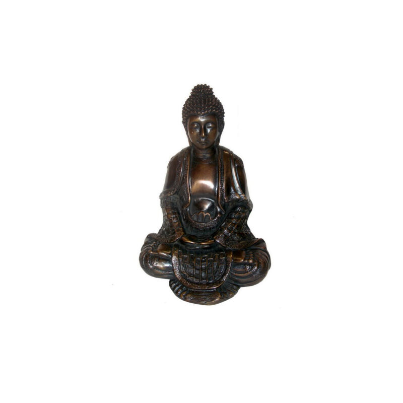 SRB701710 Bronze SItting Buddha Sculpture by Metropolitan Galleries Inc