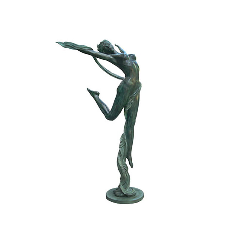 SRB705956 Bronze Acrobat Woman with Cloth Sculpture by Metropolitan Galleries Inc