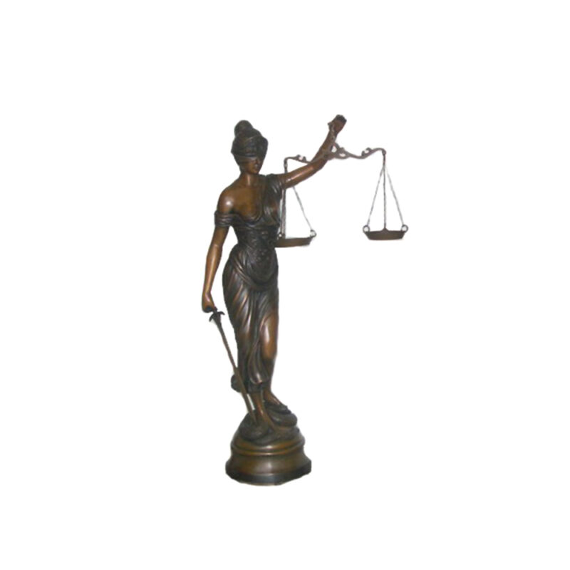 SRB702604 Bronze Lady Justice Sculpture by Metropolitan Galleries Inc