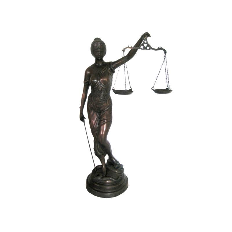SRB702804 Bronze Lady Justice Sculpture by Metropolitan Galleries Inc