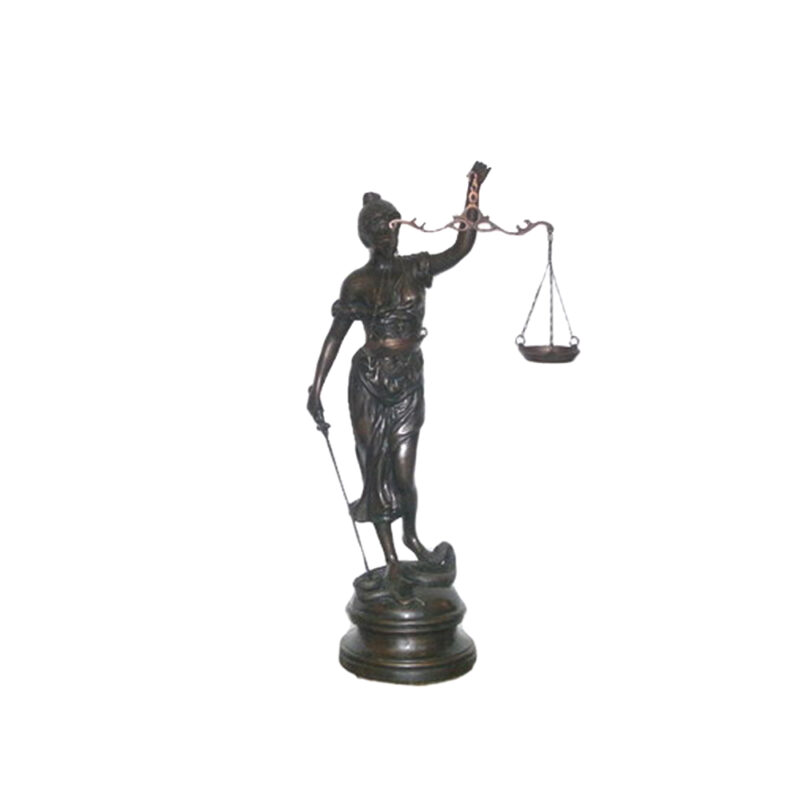 SRB703164 Bronze Lady Justice Sculpture by Metropolitan Galleries Inc