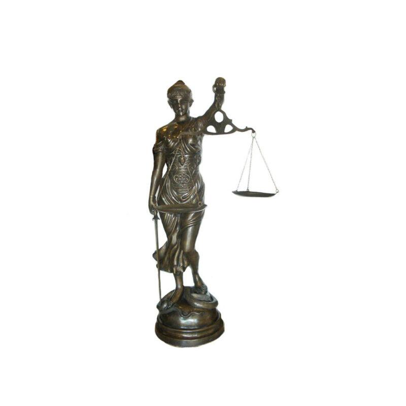 SRB703170 Bronze Lady Justice Sculpture by Metropolitan Galleries Inc