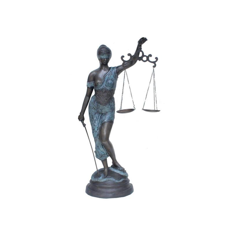 SRB703788 Bronze Lady Justice Sculpture by Metropolitan Galleries Inc