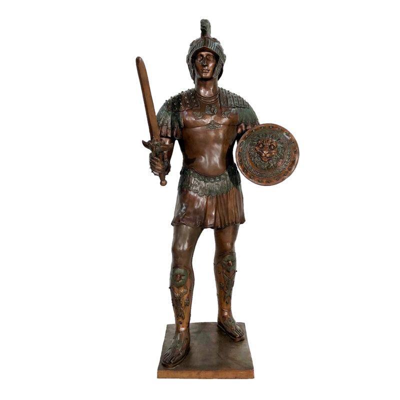 SRB052749 Bronze Spartan Sculpture by Metropolitan Galleries Inc