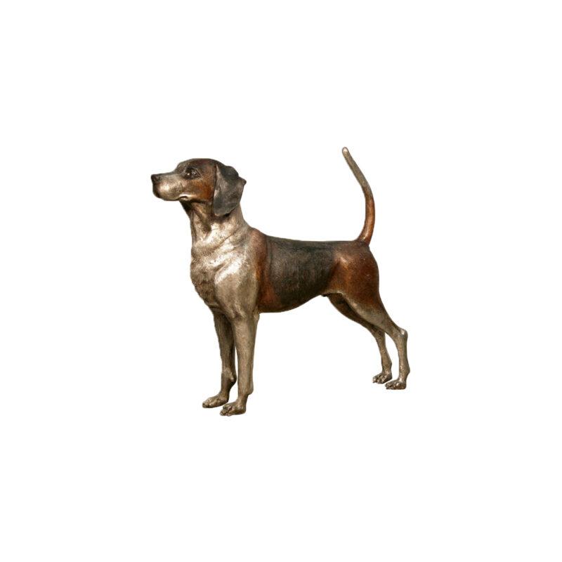 SRB094060 Bronze Standing Pointer Dog Sculpture by Metropolitan Galleries Inc
